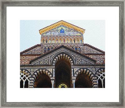 Amalfi Cathedral Italy  Framed Print by Irina Sztukowski