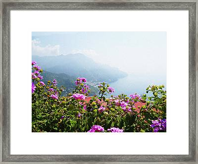 Amalfi Coast View From Ravello Italy  Framed Print by Irina Sztukowski