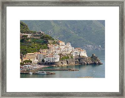 Amalfi Splendor Framed Print by Marilyn Dunlap