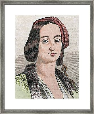 Amalia Of Oldenburg Framed Print by Prisma Archivo