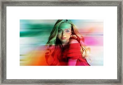 Amanda Seyfried Painting Framed Print by Marvin Blaine