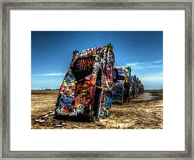 Amarillo - Cadillac Ranch 004 Framed Print by Lance Vaughn