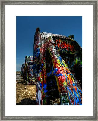 Amarillo -  Cadillac Ranch 006 Framed Print by Lance Vaughn