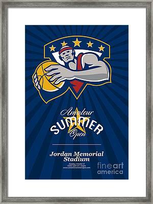 Amateur Summer Basketball League Open Poster Framed Print by Aloysius Patrimonio