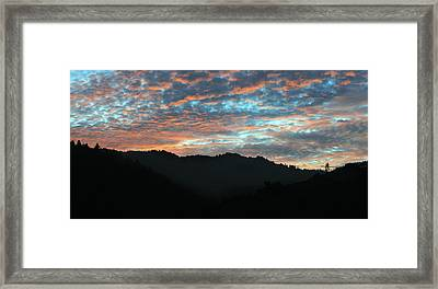 Amazing Evening Sky Framed Print by Haleh Mahbod
