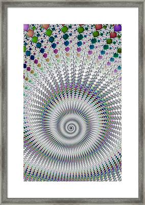 Amazing Fractal Spiral With Great Depth Framed Print by Matthias Hauser