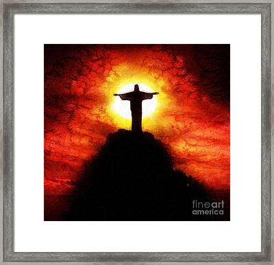 Amazing Grace Framed Print by Mo T