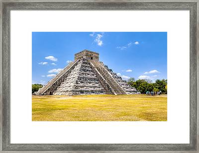 Amazing Mayan Pyramid At Chichen Itza Framed Print by Mark Tisdale