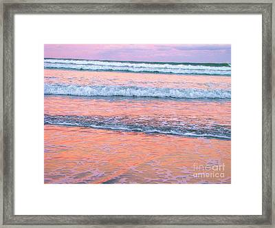 Amazing Pink Sunset Framed Print by Michele Penner