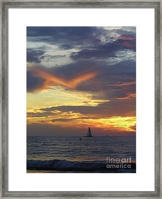 Amazing Sky At Sunset Framed Print by D Hackett