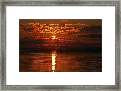 Amazing Sunset Framed Print by Aimee L Maher Photography and Art Visit ALMGallerydotcom