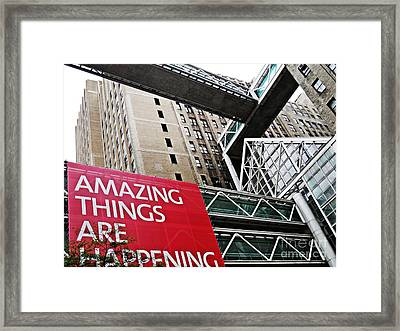Amazing Things Framed Print by Sarah Loft