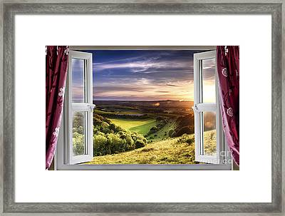 Amazing Window View Framed Print by Simon Bratt Photography LRPS