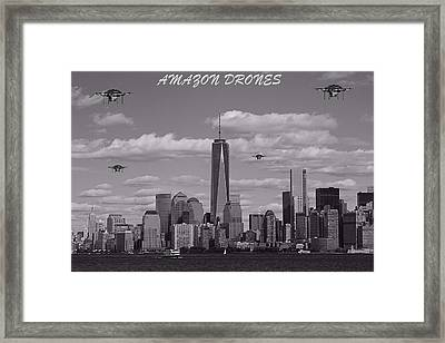 Amazon Drones In New York City Framed Print by Dan Sproul