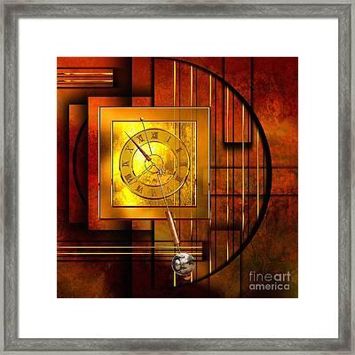 Amber Clock Framed Print by Franziskus Pfleghart