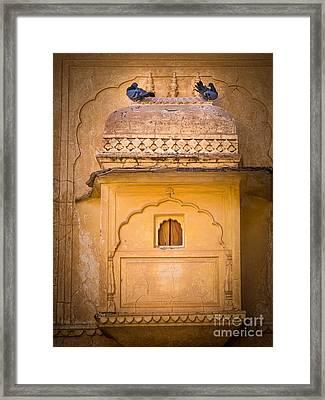 Amber Fort Birdhouse Framed Print by Inge Johnsson