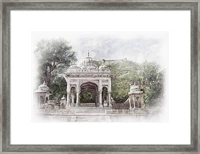 Amber Fort Framed Print by Catf