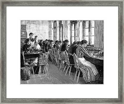 Amber Industry Framed Print by Science Photo Library