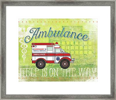 Ambulance Framed Print by Jennifer Pugh