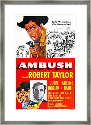 Ambush, Us Poster, Robert Taylor Top Framed Print by Everett