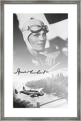Amelia And Lockheed Electra Framed Print by Daniel Hagerman