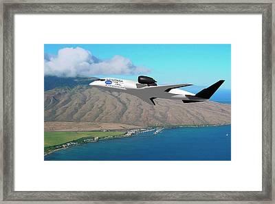 Amelia Hybrid Aircraft Framed Print by Nasa/cal Poly