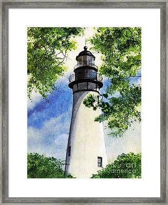 Amelia Island Lighthouse Framed Print by Diana  Tyson