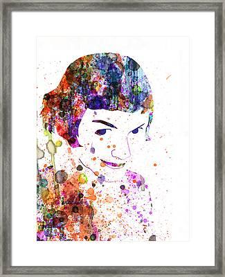 Amelie Watercolor Framed Print by Naxart Studio