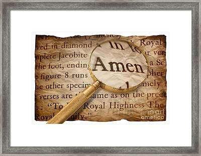 Amen Framed Print by Amanda And Christopher Elwell