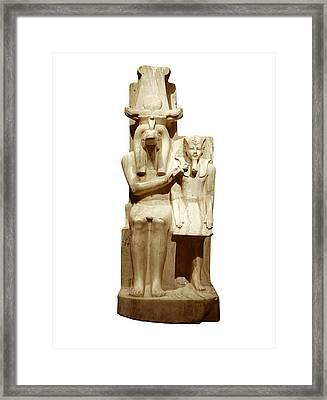 Amenhotep IIi And God Sobek. S.xiv Bc Framed Print by Everett