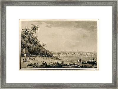 America 18th C.. Panama. View Framed Print by Everett