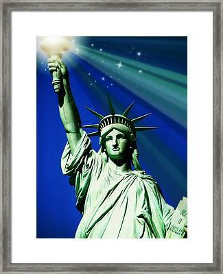 America Framed Print by Diana Angstadt