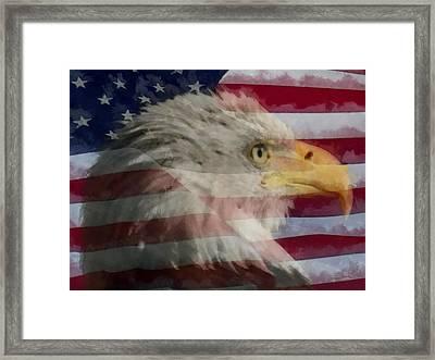 America Framed Print by Ernie Echols