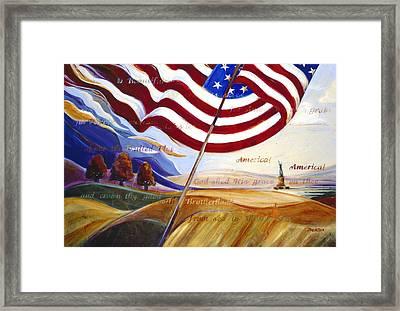 America Framed Print by Jen Norton