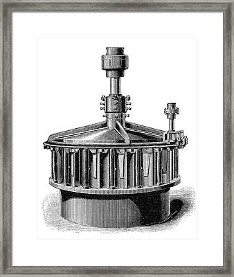 'america' Mccormick Turbine Framed Print by Science Photo Library