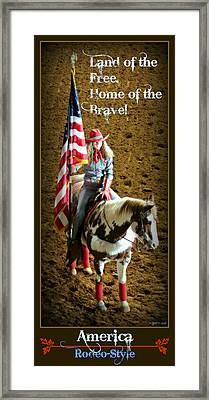 America -- Rodeo-style Framed Print by Stephen Stookey