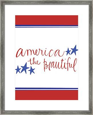 America The Beautiful Framed Print by Katie Doucette