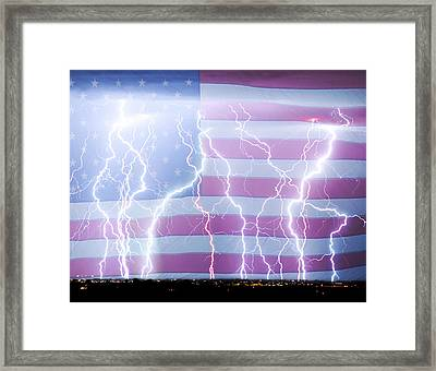 America The Powerful Framed Print by James BO  Insogna