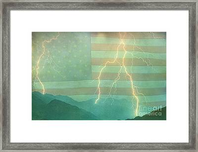 America Walk The Line  Framed Print by James BO  Insogna