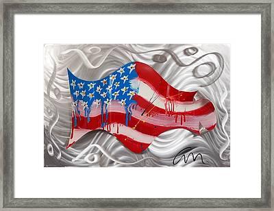 America Wave - Edition 3 Framed Print by Mac Worthington
