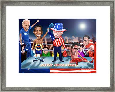 America Wins Framed Print by Fred Makubuya