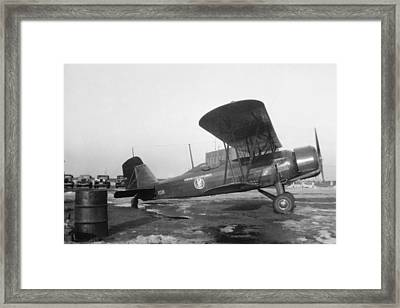 American Airlines Stearman Framed Print by Henri Bersoux