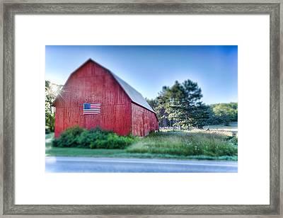American Barn Framed Print by Sebastian Musial