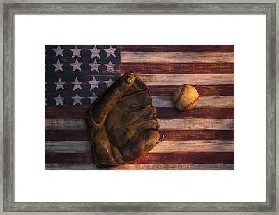 American Baseball Framed Print by Garry Gay