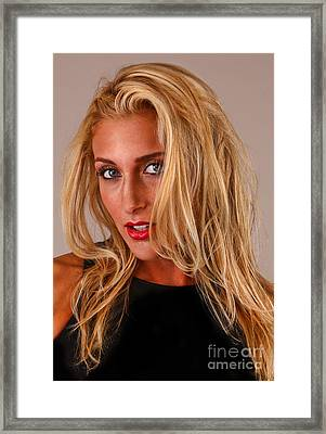 American Beautiful - Melissa Dero Framed Print by Lee Dos Santos