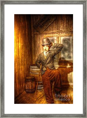 American Cinema Icons - The Little Tramp Framed Print by Dan Stone