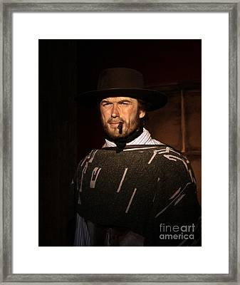 American Cinema Icons - The Man With No Name Framed Print by Dan Stone