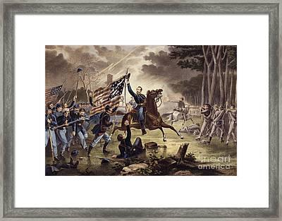 American Civil War General   Philip Kearny Framed Print by American School