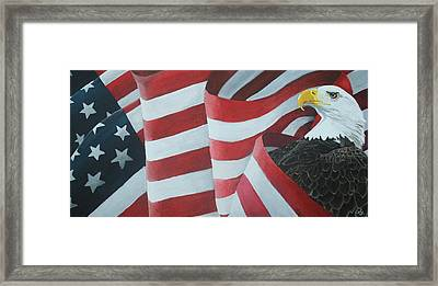 American Eagle Framed Print by Ambre Wallitsch