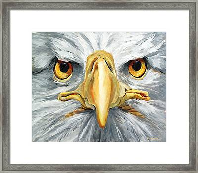 American Eagle - Bald Eagle By Betty Cummings Framed Print by Sharon Cummings
